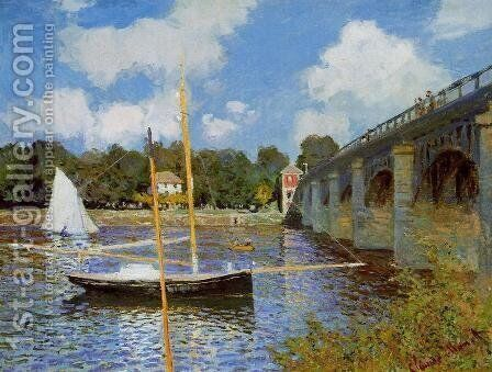 The Road Bridge At Argenteuil by Claude Oscar Monet - Reproduction Oil Painting