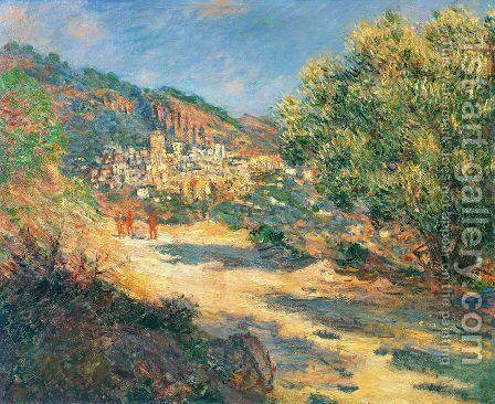 The Road To Monte Carlo by Claude Oscar Monet - Reproduction Oil Painting