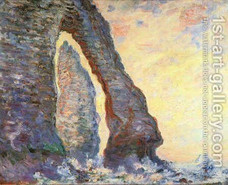 The Rock Needle Seen Through The Porte D Aval by Claude Oscar Monet - Reproduction Oil Painting