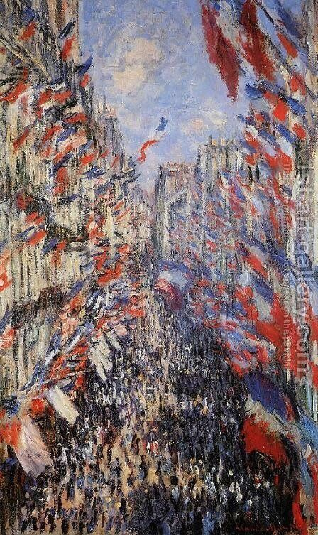 The Rue Montorgeuil 30th Of June 1878 by Claude Oscar Monet - Reproduction Oil Painting
