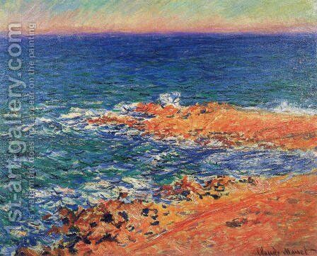 The Sea In Antibes by Claude Oscar Monet - Reproduction Oil Painting