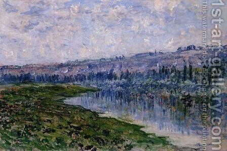 The Seine And The Chaantemesle Hills by Claude Oscar Monet - Reproduction Oil Painting