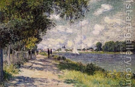 The Seine At Argenteuil 2 by Claude Oscar Monet - Reproduction Oil Painting