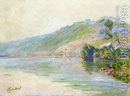 The Seine At Port Villes  Clear Weather by Claude Oscar Monet - Reproduction Oil Painting