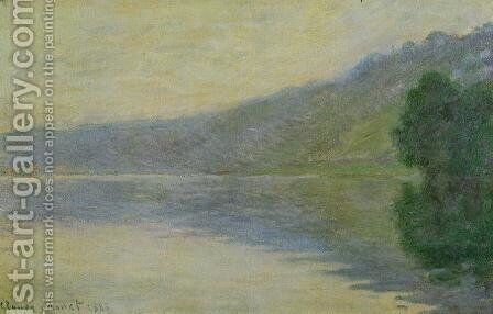 The Seine At Port Villez  Harmony In Blue by Claude Oscar Monet - Reproduction Oil Painting
