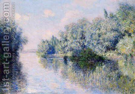 The Seine Near Giverny by Claude Oscar Monet - Reproduction Oil Painting