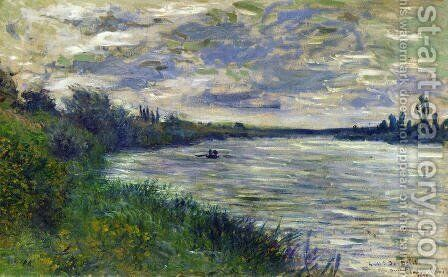 The Seine Near Vetheuil  Stormy Weather by Claude Oscar Monet - Reproduction Oil Painting