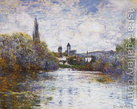 The Small Arm Of The Seine At Vetheuil by Claude Oscar Monet - Reproduction Oil Painting
