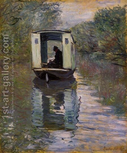 The Studio Boat2 by Claude Oscar Monet - Reproduction Oil Painting