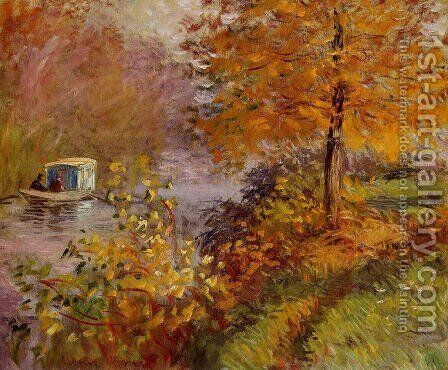 The Studio Boat3 by Claude Oscar Monet - Reproduction Oil Painting