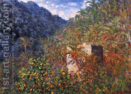 The Valley Of Sasso  Blue Effect by Claude Oscar Monet - Reproduction Oil Painting