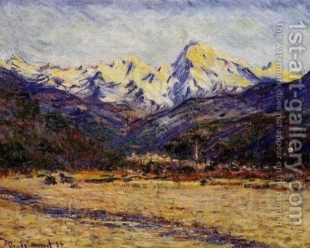 The Valley Of The Nervia by Claude Oscar Monet - Reproduction Oil Painting