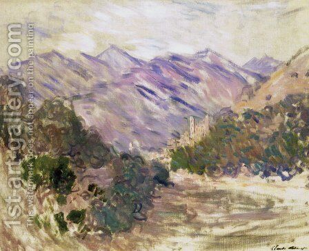 The Valley Of The Nervia With Dolceacqua by Claude Oscar Monet - Reproduction Oil Painting
