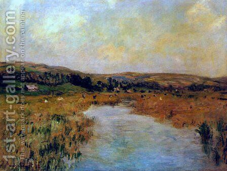 The Valley Of The Scie At Pouville by Claude Oscar Monet - Reproduction Oil Painting