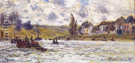 The Village Of Lavacourt by Claude Oscar Monet - Reproduction Oil Painting