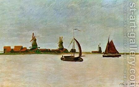 The Voorzaan by Claude Oscar Monet - Reproduction Oil Painting