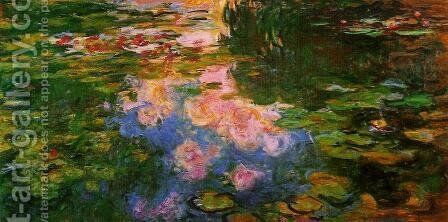 The Water Lily Pond by Claude Oscar Monet - Reproduction Oil Painting