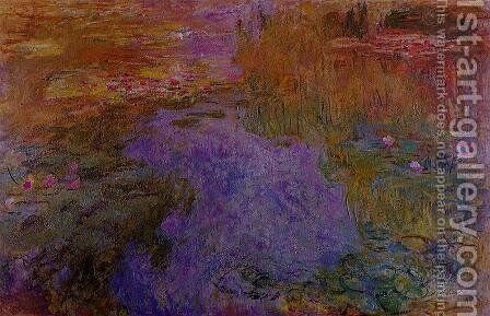 The Water Lily Pond2 by Claude Oscar Monet - Reproduction Oil Painting