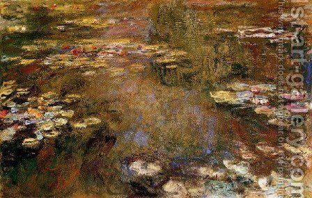 The Water Lily Pond9 by Claude Oscar Monet - Reproduction Oil Painting