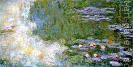The Water Lily Pond11 by Claude Oscar Monet - Reproduction Oil Painting