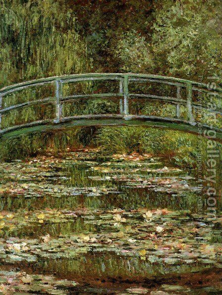 The Water Lily Pond Aka Japanese Bridge by Claude Oscar Monet - Reproduction Oil Painting
