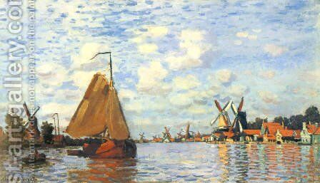 The Zaan At Zaandam by Claude Oscar Monet - Reproduction Oil Painting