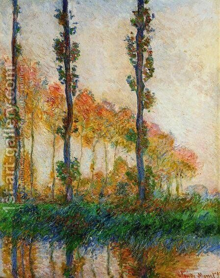 Three Trees In Autumn by Claude Oscar Monet - Reproduction Oil Painting