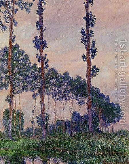 Three Trees In Grey Weather by Claude Oscar Monet - Reproduction Oil Painting