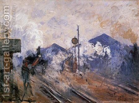 Track Coming Out Of Saint Lazare Station by Claude Oscar Monet - Reproduction Oil Painting