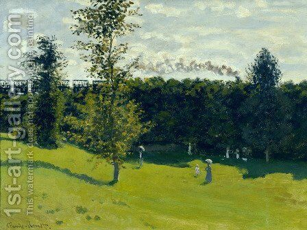 Train In The Country by Claude Oscar Monet - Reproduction Oil Painting