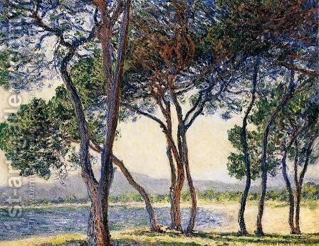 Trees By The Seashore At Antibes by Claude Oscar Monet - Reproduction Oil Painting