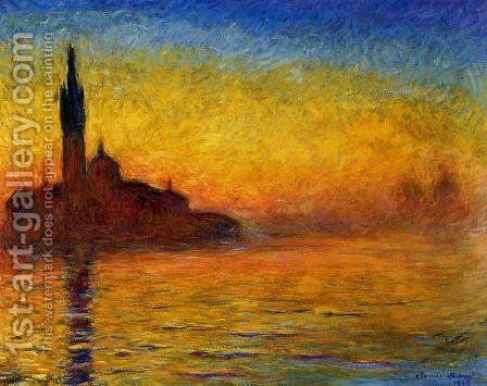 Twilight  Venice by Claude Oscar Monet - Reproduction Oil Painting