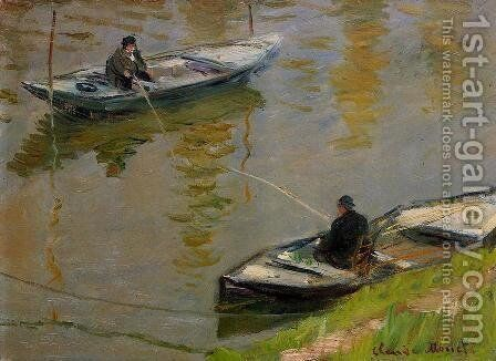 Two Anglers by Claude Oscar Monet - Reproduction Oil Painting