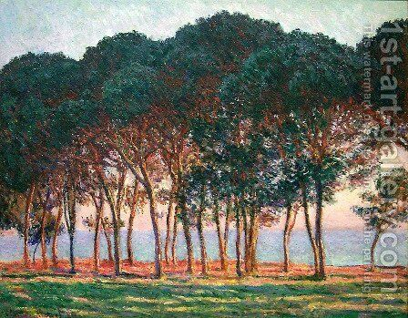 Under The Pine Trees At The End Of The Day by Claude Oscar Monet - Reproduction Oil Painting