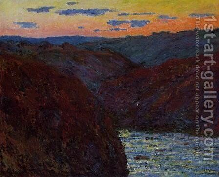 Valley Of The Creuse  Sunset2 by Claude Oscar Monet - Reproduction Oil Painting