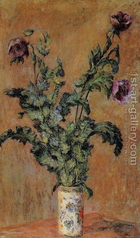Vase Of Poppies by Claude Oscar Monet - Reproduction Oil Painting