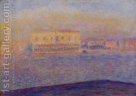 Venice  The Doges Palace Seen From San Giorgio Maggiore by Claude Oscar Monet - Reproduction Oil Painting