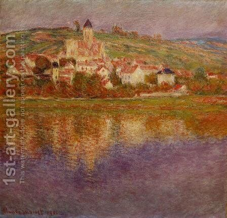 Vetheuil  Pink Effect by Claude Oscar Monet - Reproduction Oil Painting