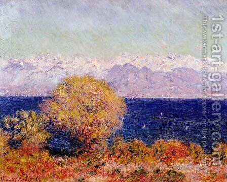 View Of Cap D Antibes Aka View Of The Bay And Maritime Alps At Antibes by Claude Oscar Monet - Reproduction Oil Painting