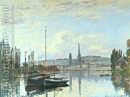 View Of Rouen by Claude Oscar Monet - Reproduction Oil Painting