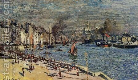 View Of The Old Outer Harbor At Le Havre by Claude Oscar Monet - Reproduction Oil Painting