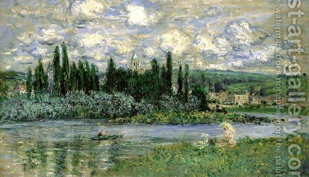 View Of Vetheuil by Claude Oscar Monet - Reproduction Oil Painting