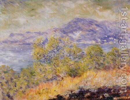 View Taken Near Ventimiglia by Claude Oscar Monet - Reproduction Oil Painting