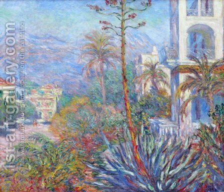 Villas At Bordighera by Claude Oscar Monet - Reproduction Oil Painting