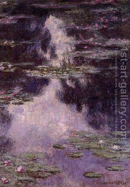 Water Lilies2 by Claude Oscar Monet - Reproduction Oil Painting
