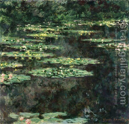 Water Lilies6 by Claude Oscar Monet - Reproduction Oil Painting