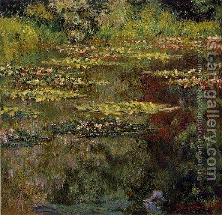 Water Lilies9 by Claude Oscar Monet - Reproduction Oil Painting