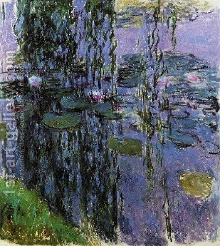 Water Lilies12 by Claude Oscar Monet - Reproduction Oil Painting