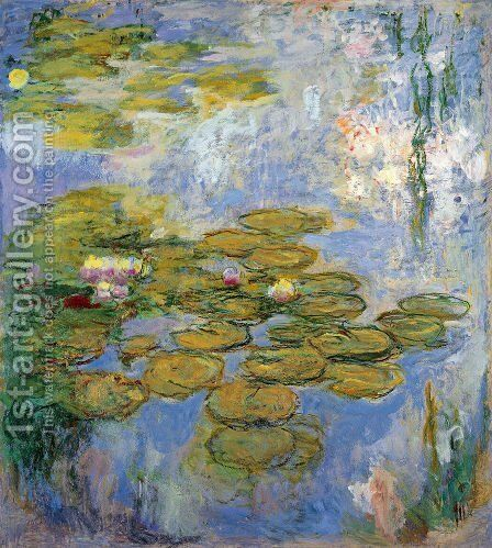 Water Lilies13 by Claude Oscar Monet - Reproduction Oil Painting