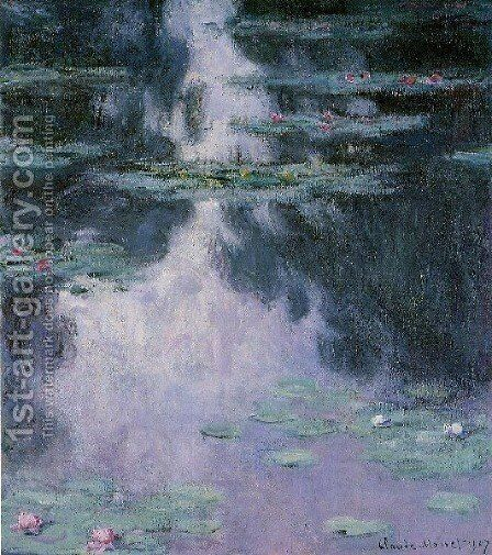 Water Lilies14 by Claude Oscar Monet - Reproduction Oil Painting